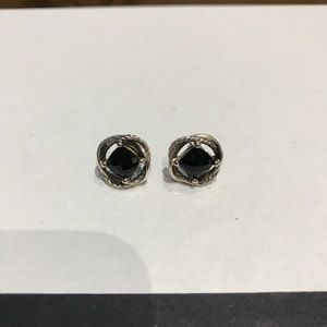 David Yurman Stud Infinity Earrings - Black Onyx